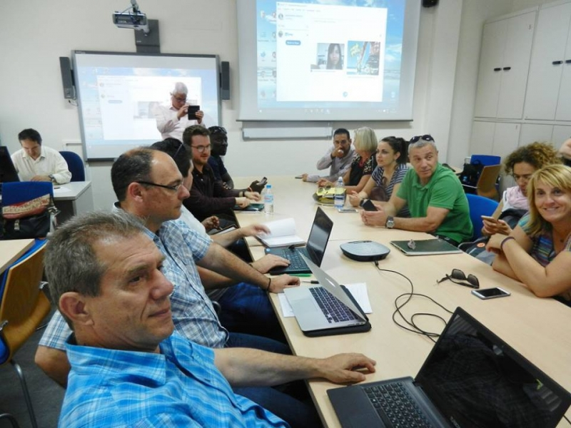 Video linking with the PHWB project meeting, Spain